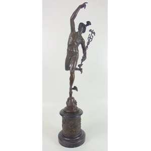 AFTER GIAMBOLOGNA OR FULCONIS -Bela escultura de bronze representando Mercúrio .Europa Séc XIX- 84 cm de alt.