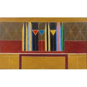 Ferreira Gullar - Abstrato - OST / CIE - 33 x 54 cm.