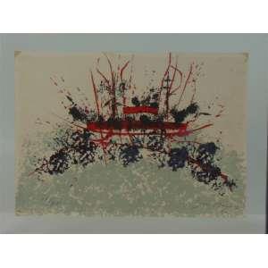 A.BANDEIRA - Abstrato , gravura a metal assinada a lápis no canto inferior direito Dat. 60 - 34 x 48 cm.