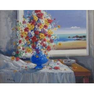 SILVIO PINTO - Vaso de flores - OST / CIE - 63 x 80 cm.