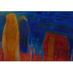 MARINA SALEME - Abstração - OST / Assinado no verso = 150 x 208 cm.
