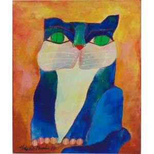 Aldemir Martins - Gato - OST / CIE - 1997 - 55 x 46 cm. Acompanha certificado da Família .