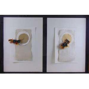 Bene Fontelles - Colagem com brincos Yanomamis - Etnia Rikaktsa - Mato Grosso - Adorno de orelha 1987 - 67 x 104 cm.