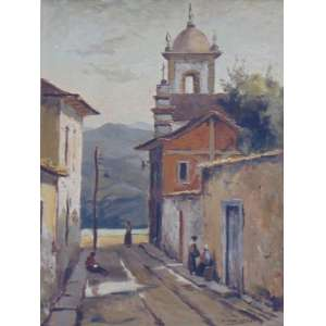 EDGAR OEHLMEYER - Casario - Óleo sobre placa - CID - dat 1966 - 60 x 45 cm.