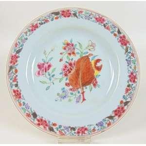 Prato de porcelana da Cia das Índias. China Séc XVIII - 22 cm de diâm.