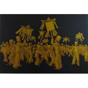 Mario Gruber - Gravura, figuras / CID - 8/10 - 70 x 100 cm.