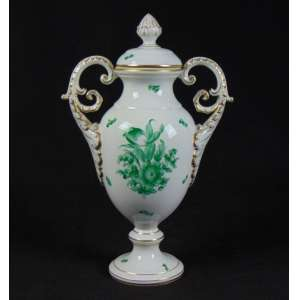 Ânfora de porcelana finamente esmaltada Europa Sec XX 36 cm de alt