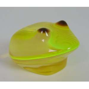 Palatinik - Sapo verde - 4 cm de alt, 5 de comp e 8 de prof.