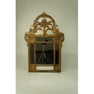 Importante espelho de Madeira lavrada e finamente dourada . Inglaterra George III Séc XVIII - 76 a x 52 l, Está c/ a Moldura Quebrada