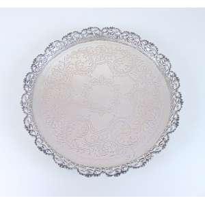 Salva de prata 833 - 33 cm de diâm.