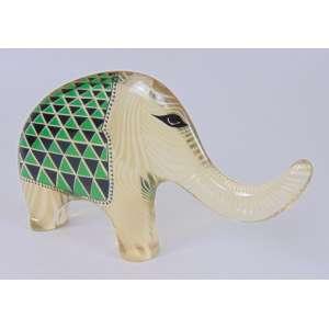 Palatinik - Elefante - Assinado - 15 cm de alt e 25 de comp.