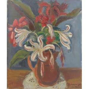 Kaminagai - Flores - Óleo sobre tela / Cid - 1950 - 46 x 38 cm