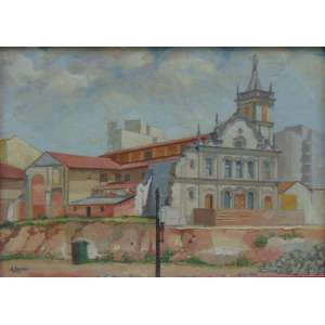 A. Marazzei - São Gonçalo - Praça João Mendes - OST/CIE - 55 x 75 cm.