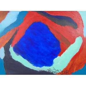 OSMAR SANTOS - Abstrato - OST/CIE - 49 x 79 cm.