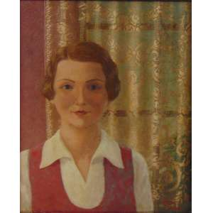 F. ALBERNAZ - A cortina de Filé - Rio - CID - dat 1935 49 x 40 cm.