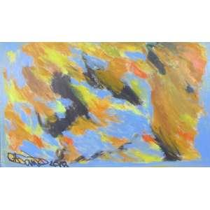 OSMAR SANTOS - Abstrato - OST/CID - 58 x 78 cm