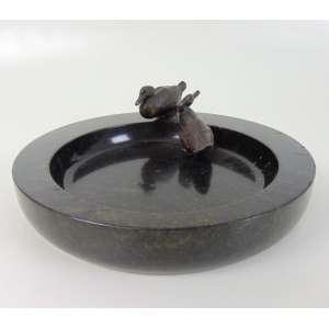 Porta cartões mármore e bronze - 30 cm de diâmetro