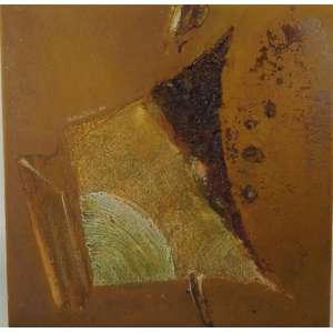 WAKABAIASHI - Abstrato - OST / - Dec 70 - necessita retoques na pintura 73 x 73 cm.
