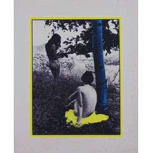 CLAUDIO TOZZI - Mulher comendo maçã depois do amor - Serigrafia - CID - PA - 1971 - 54 x 44 cm - Apresenta manchas amareladas (no estado) - Obra não emoldurada