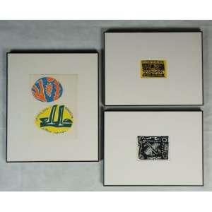 LEONILSON, Lote com 4 adesivos, 1984/1985, 6 x 8,5 cm menor e 10 x 12,5 cm maior.