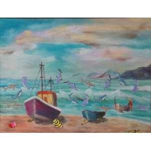 NELSON LEIRNER -Apropriação, adesivos colados sobre tela apropriada (pintada or terceiros), ass. no verso, 1990, 28 x 37 cm. Apresenta pequeno corte na tela, de facil restauro.