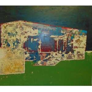 BRUNO MIGUEL - Celebrando a festa do Baco - Técnica Mista S/Tela - dat 2008 - 205 x 180 cm. Certificado de Autenticidade da Galeria EMMA THOMAS
