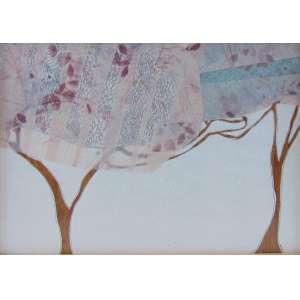 MONICA RUBINHO - Untitled - Gluing, textured glass, wood, drawing, sewed paper - CID - dat 2005 - 30,5 x 22,5 cm.