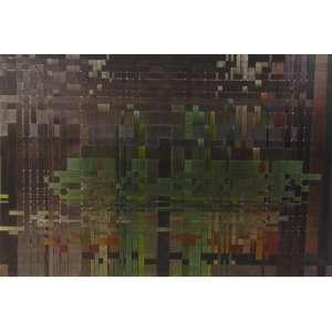 JANAINA MELLO - QUEIMADAS IV - Trama de fitas de tecido s/chassi de madeira - dat 2010 - 40,5 x 60,5 cm - Certificado DE Autenticidade da Galeria EMMA THOMAS