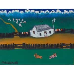 JOSE ANTONIO DA SILVA - Fazendinha - OST/CIE - dat 1988 - 30 x 40 cm.