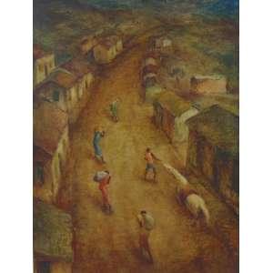 ARNALDO BARBOSA - Retirantes - OST/CIE - dat 1949 - 60 x 45 cm