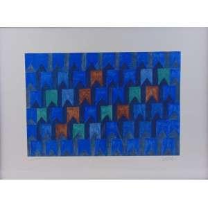 VOLPI - Bandeirinhas - Serigrafia - CID - 41/100 - 46 X 64 cm