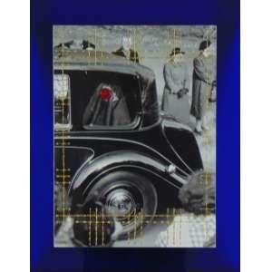 FELIPE OLIVEIRA MELLO - Majesty in black - Bordado com cordone fino laminado e encáustica s/página de livro - dat 2016 - 52,5 x 42 cm -Certificado dE Autenticidade Deconcept Escritório de Arte