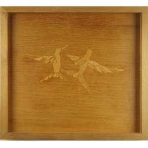 EFRAIN ALMEIDA, Recuerdos (beija-flores), laminado de cedro, 2003, com etiqueta da Galeria Fortes Vilaça no verso, 29 x 33 cm.