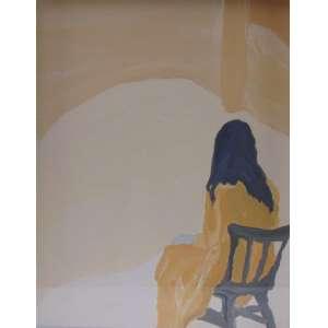 DEBORAH PAIVA - Figurinha (menina sentada) - OSPapel - 18 x 24 cm