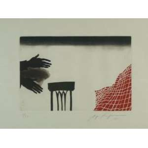 SÉRGIO FINGERMAN -S/T, gravura em metal, ass. cid, 1981, ed. 1/30, 39 x 53 cm.