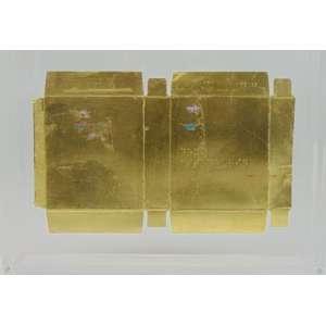 GUSTAVO NÓBREGA - S/T - Folha de ouro 22 Klts sobre embalagem de remédio - dat 2014 - 20 x 30 cm - Certificado de autenticidade da Galeria Luisa Strina
