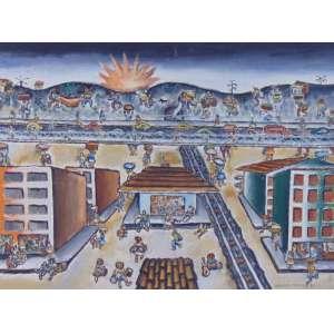 MANOEL MARTINS - Retirantes - OST/CID - dat 1971 - 46 x 61 cm. Obra reproduzida à pg 266 do livro Arte Brasil Hoje 50 anos depoisde Roberto Pontual.