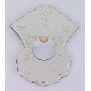 CLAUDIA HERSZ - Les Mirroirs: Quel Roi C est moi? - Metal e espelho convexo sobre espelho veneziano - dat 2012 - 28 x 23 x 5 cm - Certificado dE Autenticidade da Galeria Portas Vilaseca.