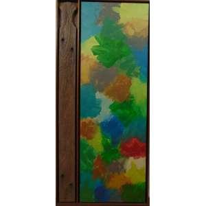 CARLOS MATUCK - Amazonia 01 - OST e Peça de madeira fixada na moldura - Assinado no verso - dat 2008 - 123 x 57 cm.