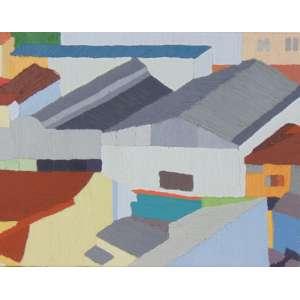 ANA SARIO - Sacolão - ÓLEO E CERA SOBRE TELA - dat 2010 - 20 x 26 cm. Certificado de autenticidade da Galeria Virgilio