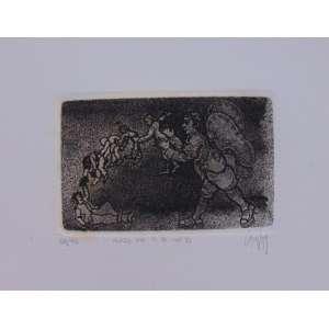 Mário Gruber - Anjo da R.B numero 2 - Gravura em metal / CID - dat 1981 - N° 20/40 - 14 x 18 cm. Obra não emoldurada