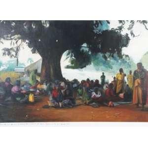 SANDRA GAMARRA, Reunião de mjulheres convocada pelo Movimento Popular de Libertação do Sudão, ost, ass. no verso,2011, 42 x 57 cm.