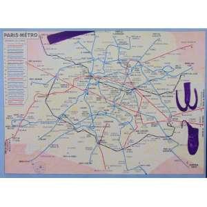 JOSEPH BEUYS - Paris Metro initiation Gauloise - Litografia - ass. cie - dat 1958-74 - Edição 100/185 - 56 x 75 cm - obra não emoldurada.