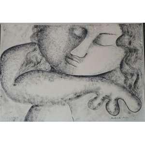 OSVALD DE ANDRADE FILHO ( NONÊ ), S/T, Grafite sobre papel, CID, 1951. 32 x 36 cm. Obra não emoldurada.