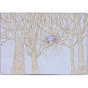MONICA RUBINHO - Regular Dream - Desenho com ponta porosa e lápis de cor - Assinado no verso - dat 2008 - 21 x 30 cm.