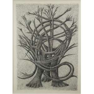 CARLOS PRADO, S/T, Nanquim sobre papel, ass. cid, 1982, 46 x 34 cm.