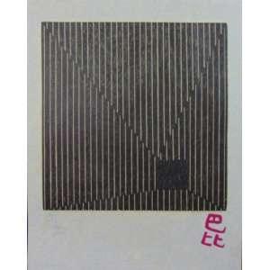 Lygia Pape - S/T - Xilogravura / CIE - 1999 - N° 76/100 - 47 x 37 cm. PequenaS manchas amareladas (no estado) - Obra não emoldurada.
