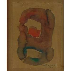 FLEXOR - S/T - Aquarela s/ papel - CID - Dat 1964 - 17 x 12 cm.
