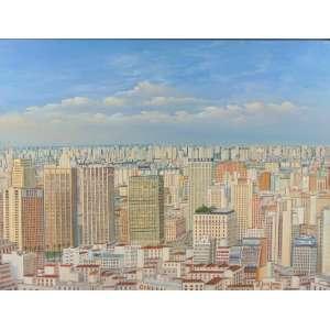 JAIR GOMES - Vista de São Paulo - OST/CID - dat 2003 - 60 x 80 cm.