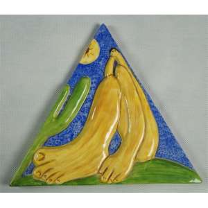 ANTONIO PETICOV, TARCILAs Abapuru, cerâmica esmaltada, ass. no verso, 22 x 25 x cm.